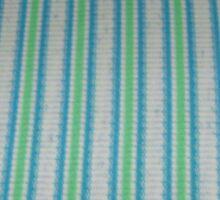 White Blue Green Stripes Sticker