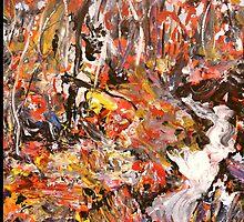 The Swollen Creek. ( Homage to Arthur Boyd ) by Richard  Tuvey