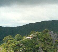 a vast Burma landscape Sticker