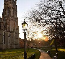York minster gardens by beanocartoonist