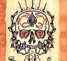 Blood Diamond Skull by Eric Scsavnicki
