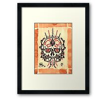 Blood Diamond Skull Framed Print