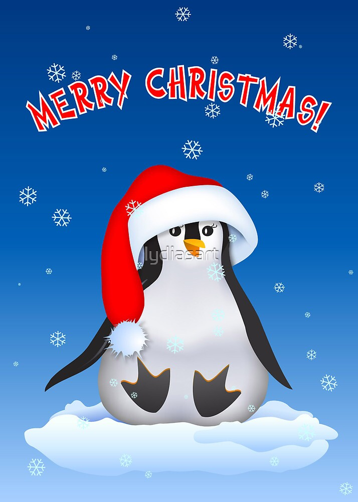 Christmas Penguin by lydiasart