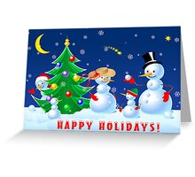 Snowmen Dancing Greeting Card