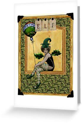 Elf Christmas Card by WinonaCookie