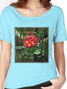 Mirrored Primrose Women's Relaxed Fit T-Shirt