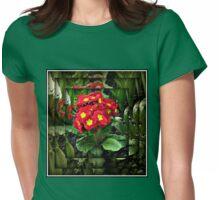 Mirrored Primrose Womens Fitted T-Shirt
