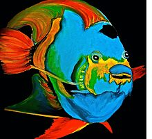 Angel Fish Swimming in the Sea by Saundra Myles