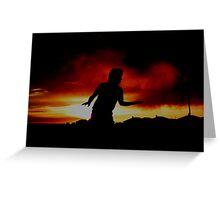 Blazing silhouette  Greeting Card