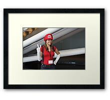 Female Mario!  Mamma Mia! Framed Print