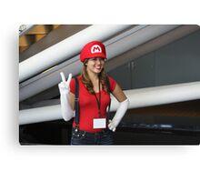 Female Mario!  Mamma Mia! Canvas Print