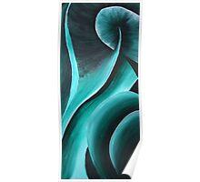 Green Swirls (diptych part a) Poster