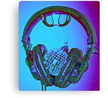 """mirrorball headphones"" Canvas Print"