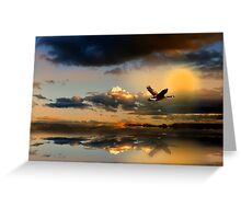 Close Of Day Greeting Card