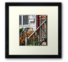 Lilies At the Door Framed Print