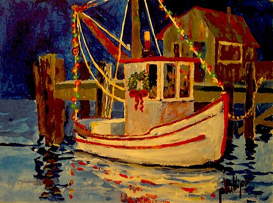 Ready for the Christmas Regatta by Jim Phillips
