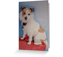 Peppa the rough coat terrier Greeting Card