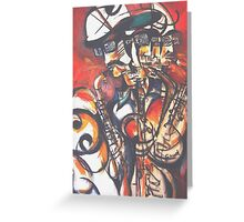 Sax Greeting Card
