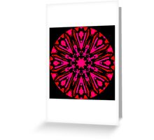 2 REDS and BLACK Greeting Card