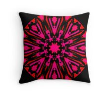 2 REDS and BLACK Throw Pillow