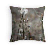 Winter Dandelion Throw Pillow