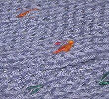 Knit Purple Rainbow Scarf by silverdragon
