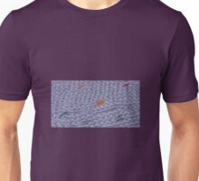 Knit Purple Rainbow Scarf Unisex T-Shirt