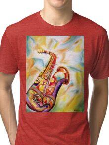 RAINBOW SAX Tri-blend T-Shirt