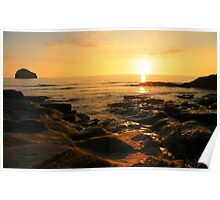 Cornwall: Trebarwith Strand Sunset Poster