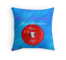 A Merry Christmas Red Bubblers Throw Pillow
