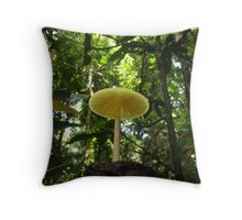 Cap under the canopy Throw Pillow
