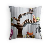 In The Farmyard Throw Pillow