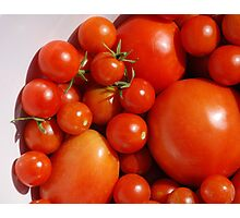 Tomatoes in White Bowl  Photographic Print