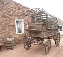 An Old Hospital or Prison Wagon at Hubbel Trading Post. by Mywildscapepics