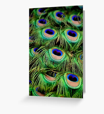 Greens and Blues Greeting Card