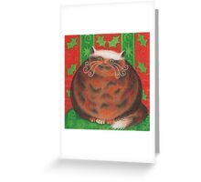 Christmas Pud Greeting Card