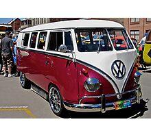 Mangenta Volkswagen Kombi Van Photographic Print