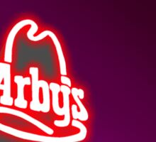 lights in the sky above the arby's Sticker