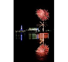Corio Bay lights up Photographic Print