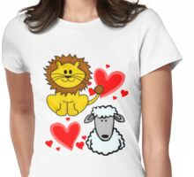 Lion Lamb Love Womens Fitted T-Shirt