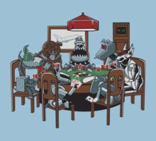 Robot Dogs Playing Poker Kids Clothes