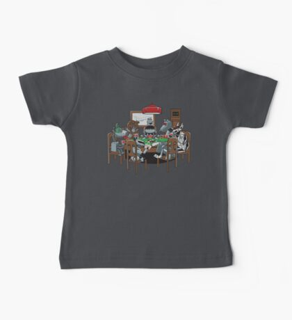 Robot Dogs Playing Poker Baby Tee