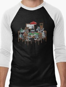 Robot Dogs Playing Poker Men's Baseball ¾ T-Shirt