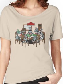 Robot Dogs Playing Poker Women's Relaxed Fit T-Shirt