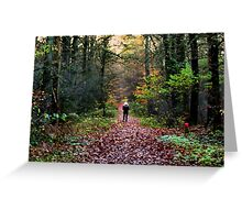 Beautyful forest Greeting Card