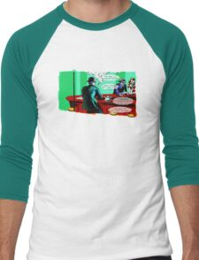 Who is the Balloon Suited Man? A Graphic Novel Men's Baseball ¾ T-Shirt