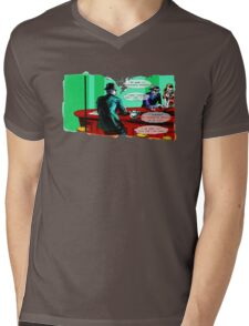 Who is the Balloon Suited Man? A Graphic Novel Mens V-Neck T-Shirt