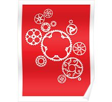 Meshing Gears (red) Poster