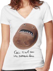 La Trahison des Legumes Women's Fitted V-Neck T-Shirt