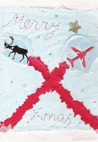 Red Arrows Xmas Card by Blackbird76